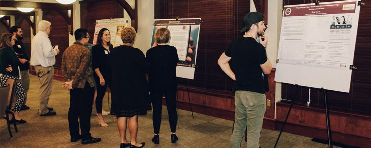 Students showing their research